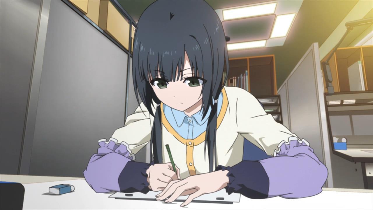 shirobako-01-ema-key_animator-artist-drawing-anime_studio-concentrating