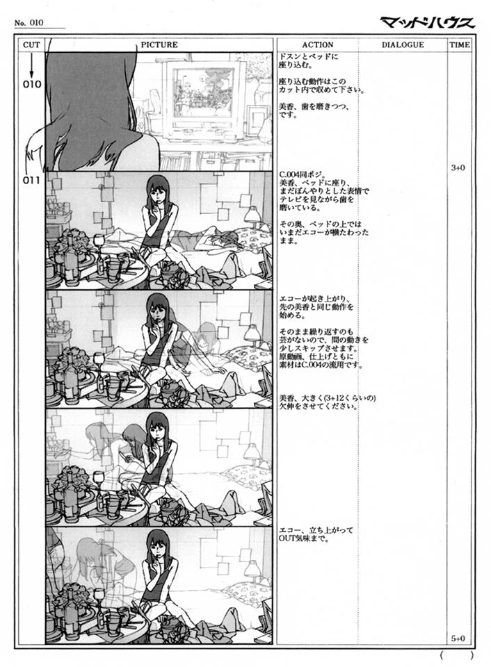 Satoshi Kon Storyboard - Ohaiyo