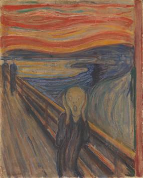 Edward Munch, The Scream of Nature, 1893-1910
